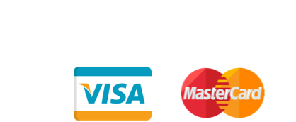 Secure payments we accept: Visa, Mastercard