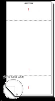 63 x 127mm Plain Single Ply Restaurant Pad Boxed 100s - PAD45