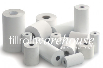 57 x 25 Coreless Thermal Credit Card Rolls Boxed 20s - TRW143
